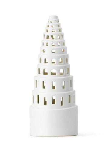 Ljuslykta Urbania, High tower, vit, Kähler
