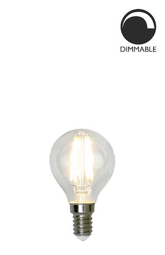 Ljuskälla E14 LED, filament, klot, klar, 4,2W
