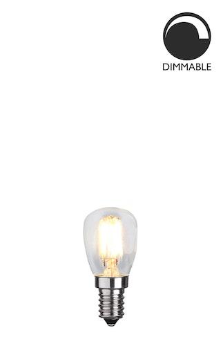 Ljuskälla E14 LED, filament, päron, klar, 2,5W