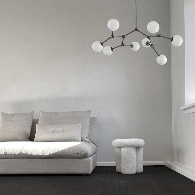 Taklampa Drop Chandelier Bulp, Mini - Grey, 101 Copenhagen