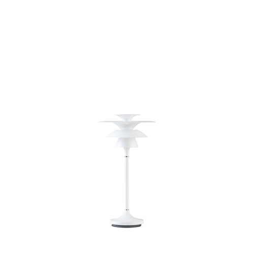 Bordslampa Picasso, mattvit, Belid