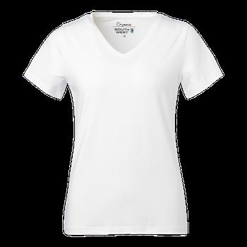 T-shirt dam V-ringad Fairtrade utan tryck