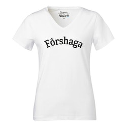 Forshaga vit v-ringad Fairtrade