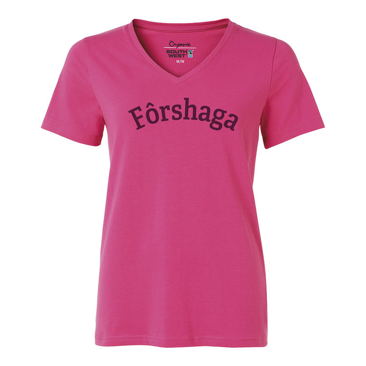 Forshaga cerise v-ringad Fairtrade