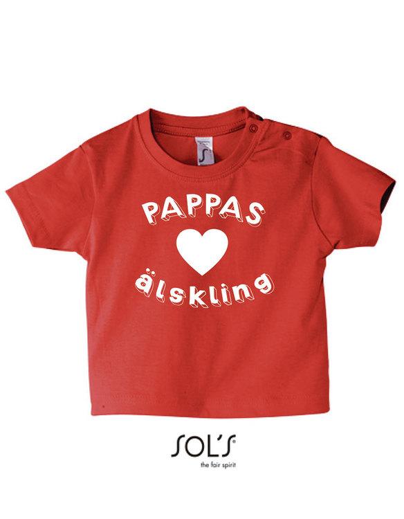 Baby t-shirt Pappas älskling