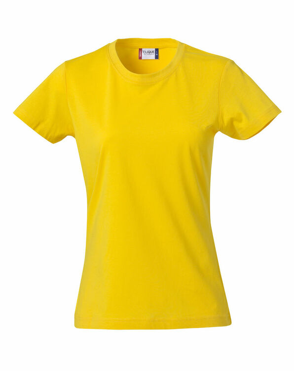 T-shirt dam Basic T Clique utan tryck