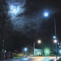 Skivedsleden i månljus foto Cicci Wik