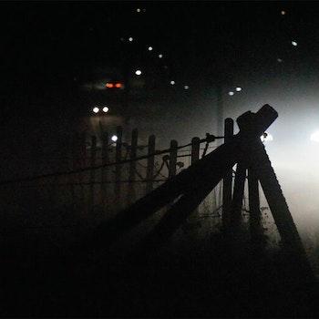 Staket i dimma i Skived 1 foto Cicci Wik