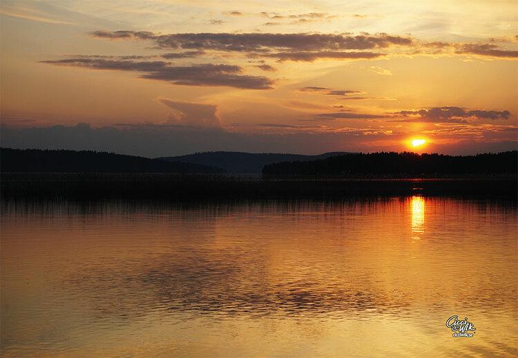 Vistkusten i solnedgång foto Cicci Wik