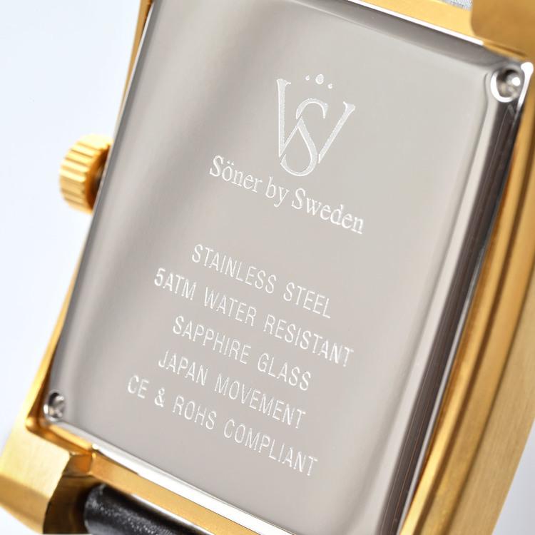 SÖNER LEGACY C  Borstat guld - Klassisk urtavla