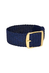 Bon Echo | Braided Perlon Strap Navy Blue Gold