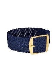 Bon Echo | Braided Perlon Strap Navy Blue