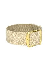 Bon Echo | Braided Perlon Strap Sand Beige Gold