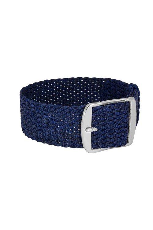 Bon Echo | Braided Perlon Strap Navy Blue Silver
