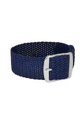 Bon Echo | Braided Perlon Strap Navy Blue Silver