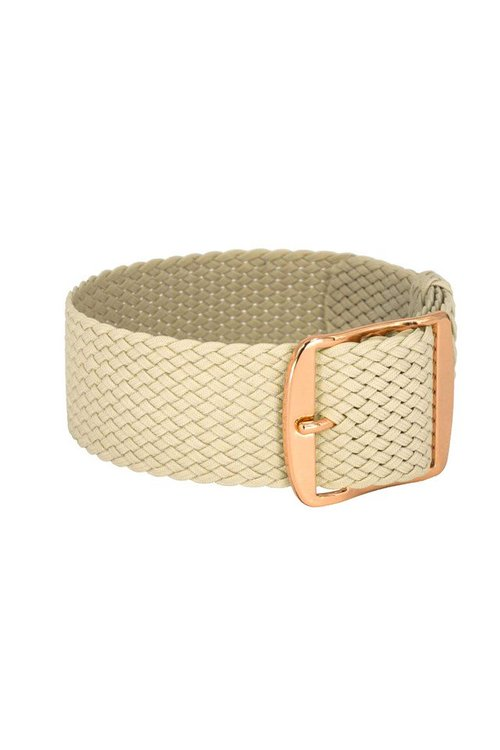 Bon Echo | Braided Perlon Strap Sand Beige Rose gold