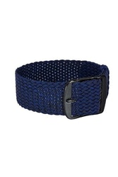 Bon Echo | Braided Perlon Strap Navy Blue Black