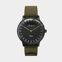 FIRST SEASON MATTE BLACK/BLACK/GREEN NATO