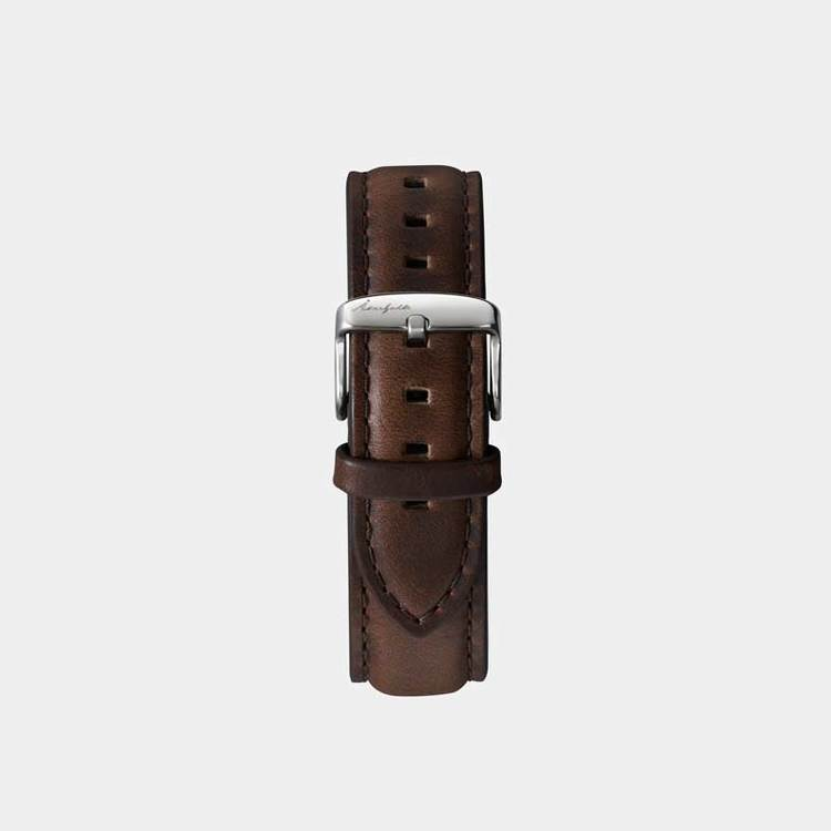 Åkerfalk | BROWN SILVER LEATHER STRAP
