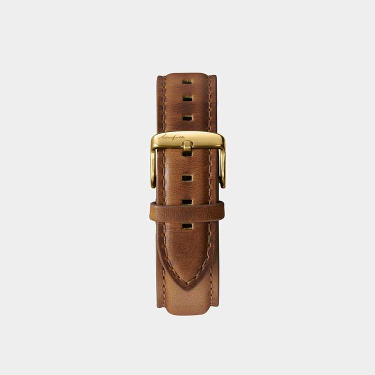 Åkerfalk | LIGHT BROWN GOLD LEATHER STRAP