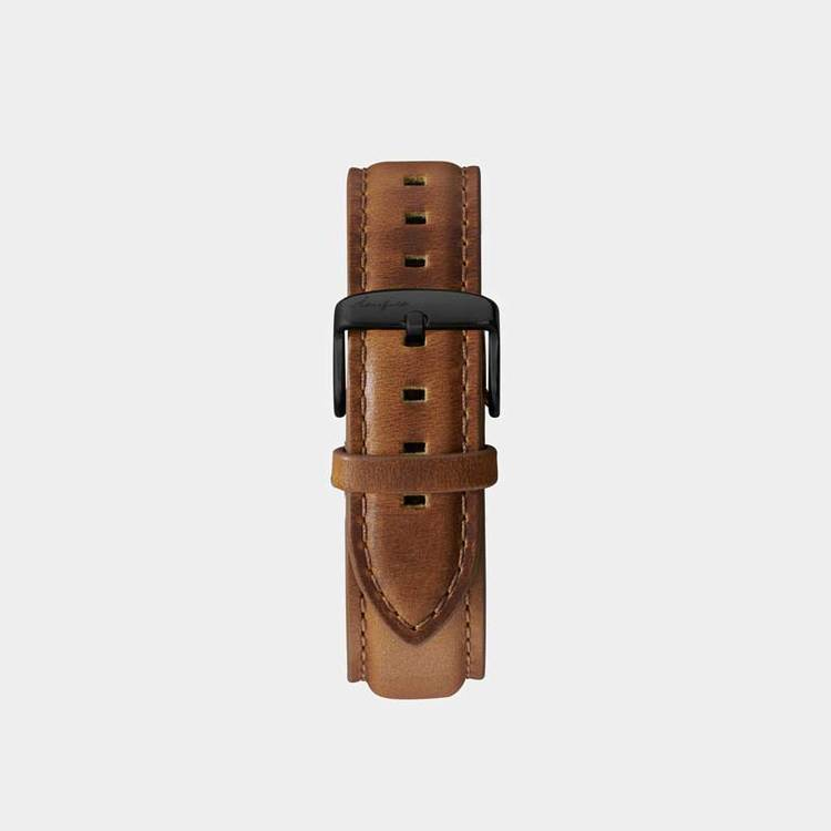 Åkerfalk | LIGHT BROWN BLACK LEATHER STRAP