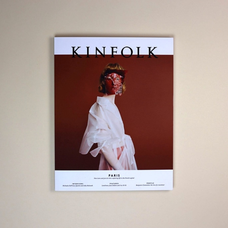 Kinfolk vol 27. 295x227x13mm. A day in the life of Ramdane Touhami, the energetic entrepreneur behind French beauty emporium L'Officine Universelle Buly. The Arni Cocnept