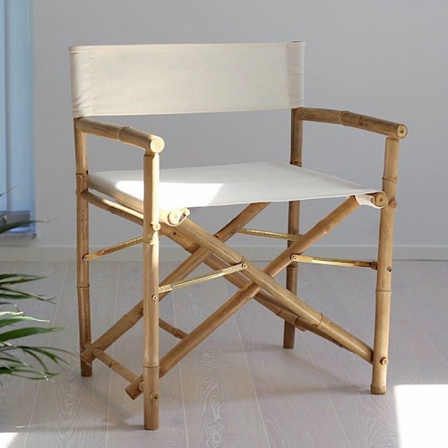 Director's Chair, Bamboo - White