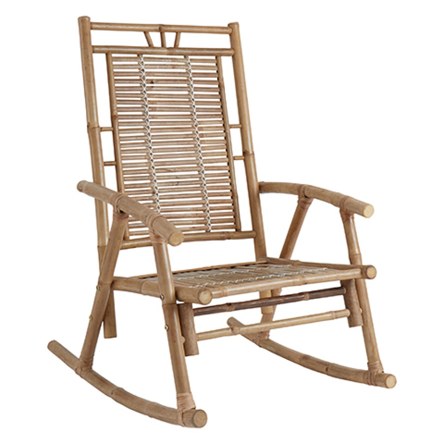 Rocking Chair, Bamboo. Gungstol i bambu. 86x54cm, sitthöjd 38 cm, höjd 105 cm. The Arni Concept