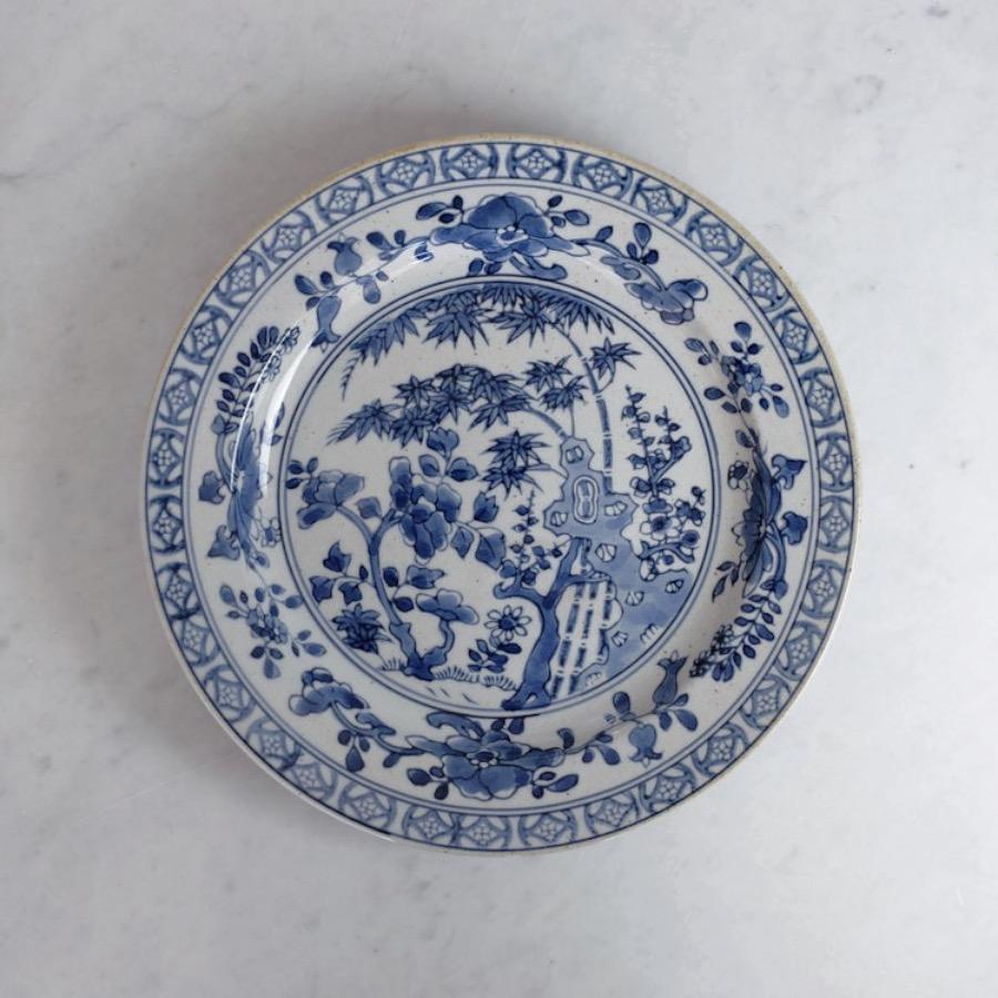 Kyoto Ceramics, Handpainted Plate. Vacker handmålad tallrik inspirerad av Japanska Influenser. 25x25cm. The Arni Concept