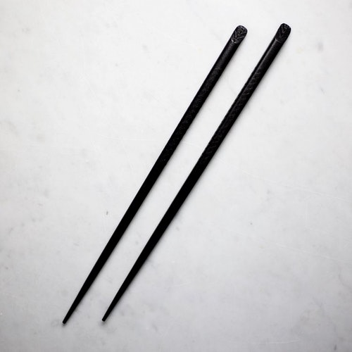 Chopstick - Black Herringbone X2