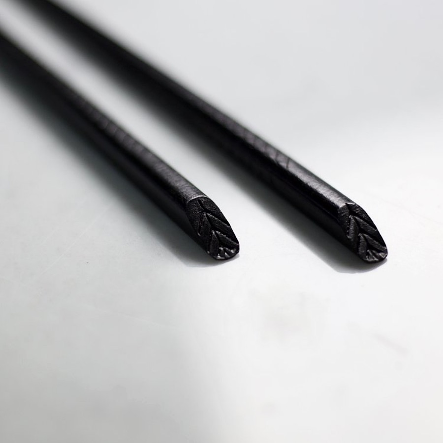 Chopstick - Black Herringbone X2