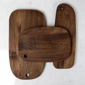 Walnut Serving Boards, Set of 3