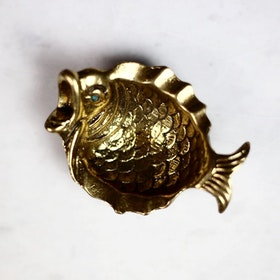 Fish Shaped Brass Bowl, Vintage Selection