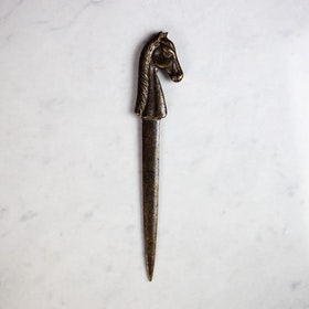 Equestrian Brass Envelope Knife, Vintage Selection