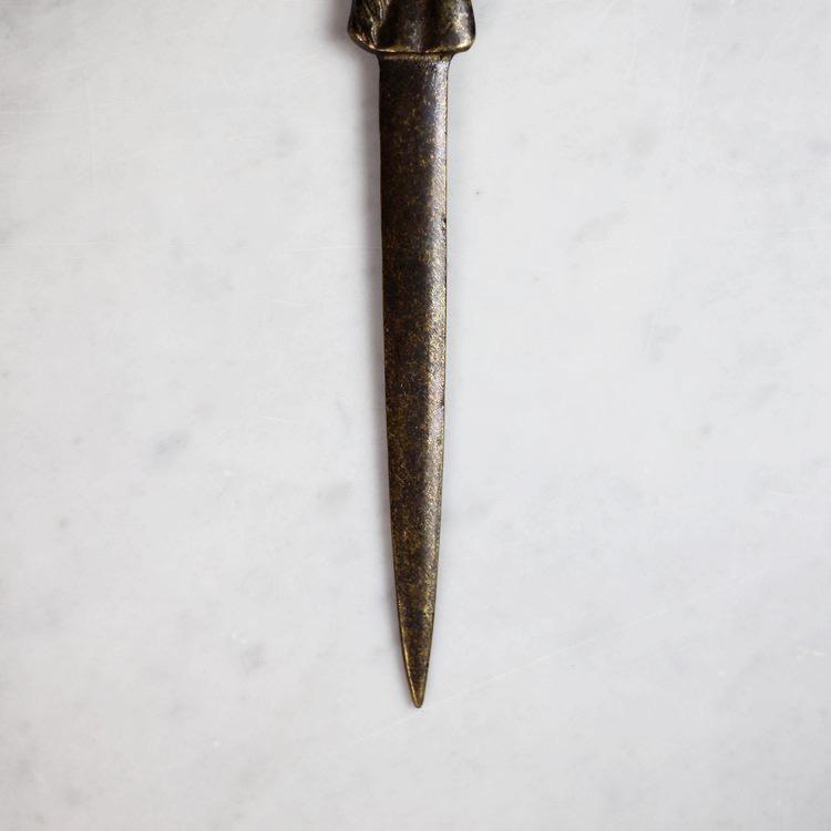 Equestrian Brass Envelope Knife, Vintage Selection