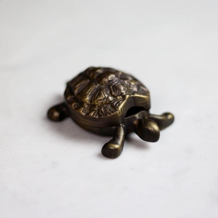 Turtle Shaped Brass Box, Vintage Selection