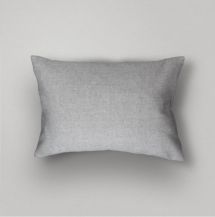 Basic Herringbone Pillow Cover, Grey