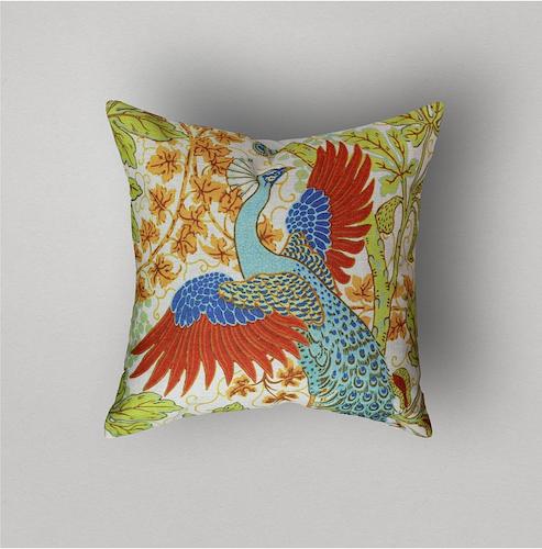 Linen Bird Collection, Peacock Paon