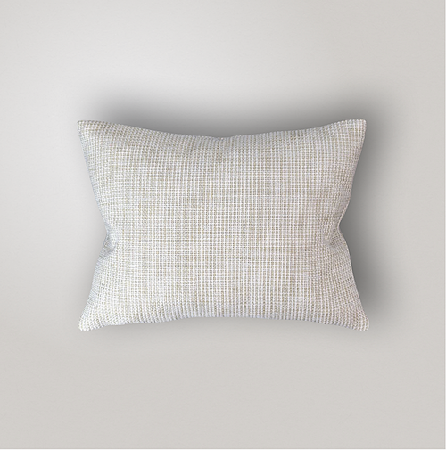 Outdoor Pillow Cover Weave, Ecru