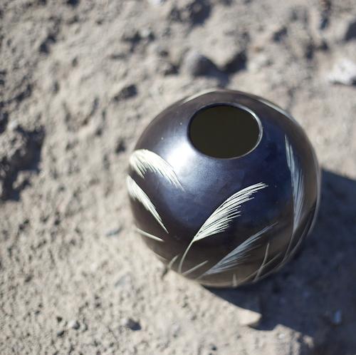 Sphere Of Grass Vase