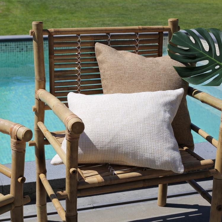 Outdoor Pillow Cover Weave, Ecru