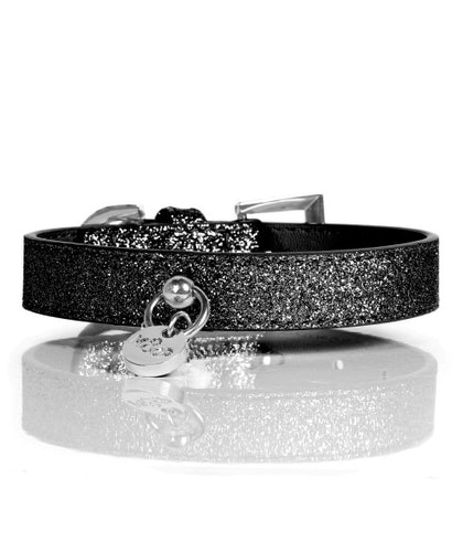 Milk & Pepper Hundhalsband, Stardust Black