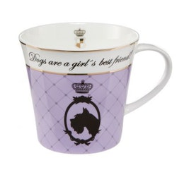 Artist Mug - Dogs are a girl's best friend! - Lila