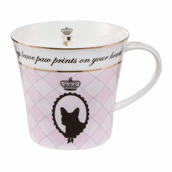 Artist Mug - Dogs leave paw prints on your heart - Rosa