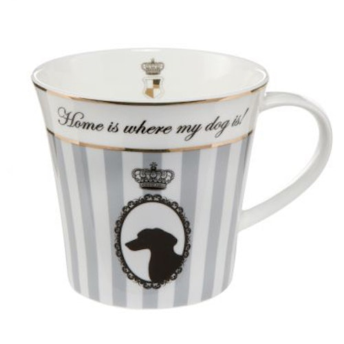 Artist Mug - Home is were my dog is! - Grå
