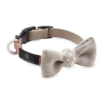 Halsband Pearls Bow-tie Powder Pink