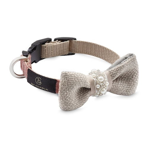 Pearls Bow-tie Powder pink & beige