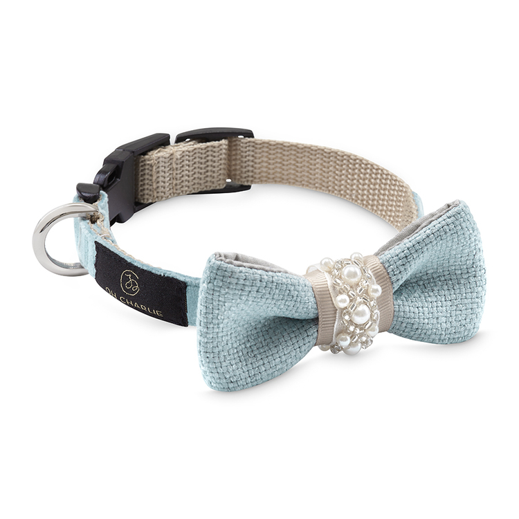 Hundhalsband-rosett-pearls