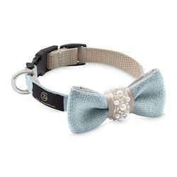Pearls Bow-tie Celeste & beige