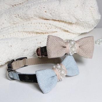 Pearls Bow-tie Powder pink & beige